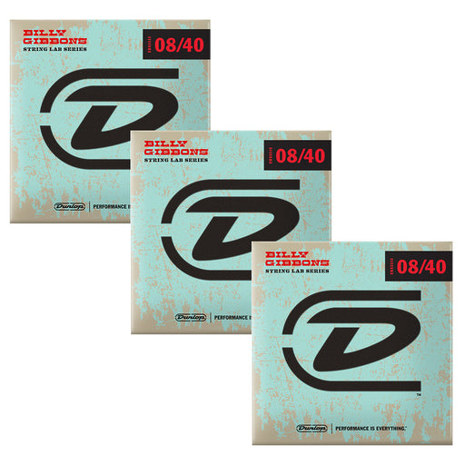 Dunlop (3-Pack) Rev Willy's Billy Gibbons Signature Guitar Strings 08-40