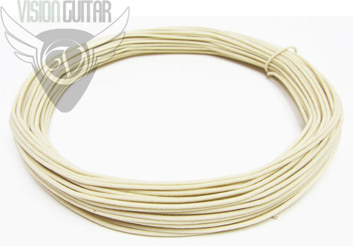 White Cloth Push Back - Vintage Correct Single Conductor Wire - Sold By The Foot