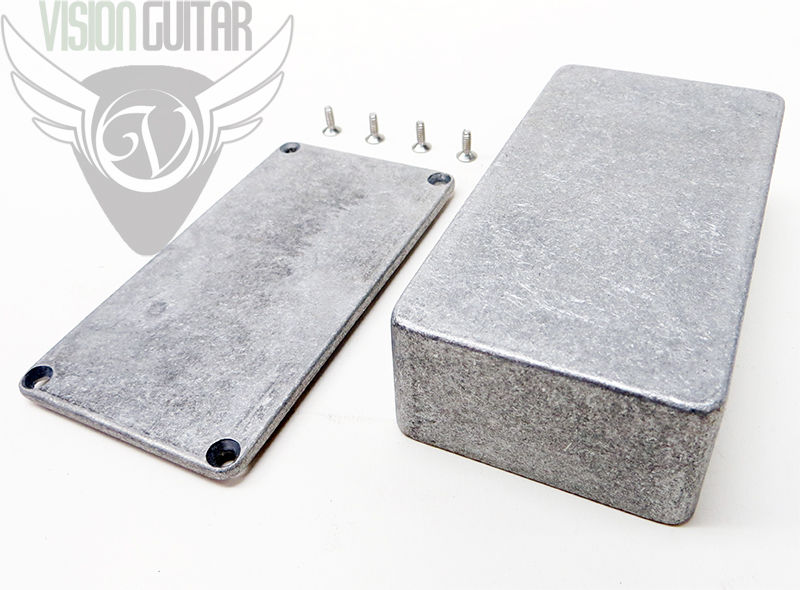 "1590B Diecast Aluminum Enclosure - Guitar Pedal Projects - 4.39"" x 2.34"" x 1.06"""