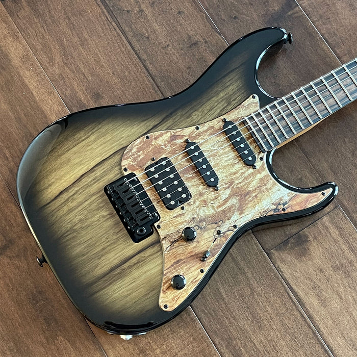Suhr Custom Standard HSS Electric Guitar Natural Black Limba JS5C8A