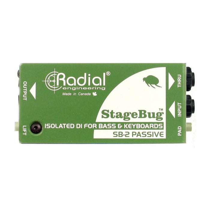 Radial SB-2 StageBug™ Transformer Isolated Passive Direct Box