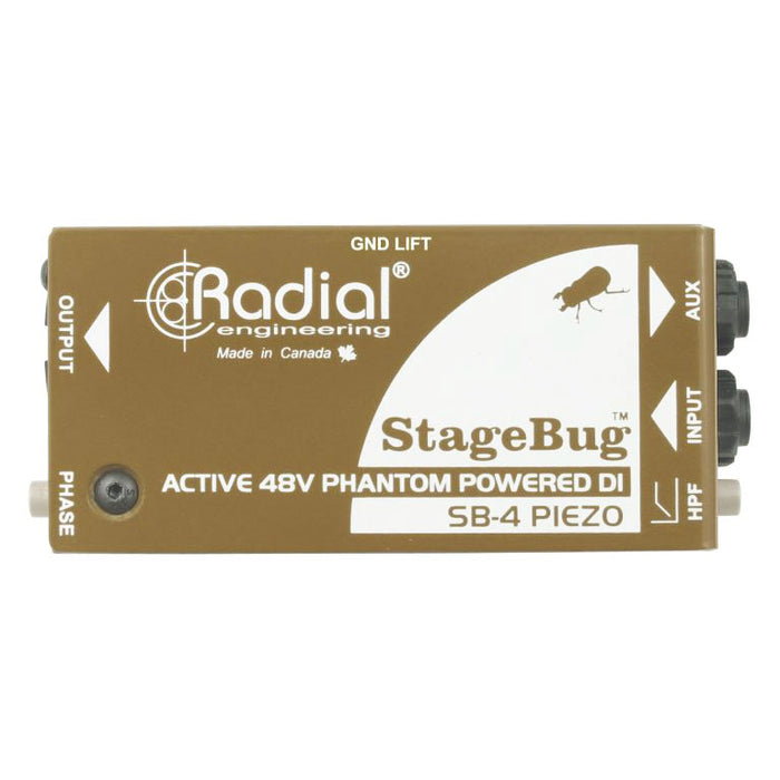 Radial StageBug™ SB-4 Active DI Optimized For Piezo Transducers