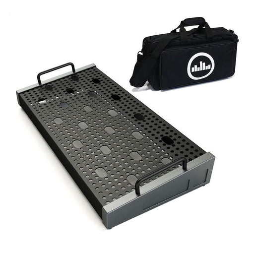 "Temple Audio Design Solo 18 (18"" x 8.5"") Pedalboard w/Soft Case Gun Metal"