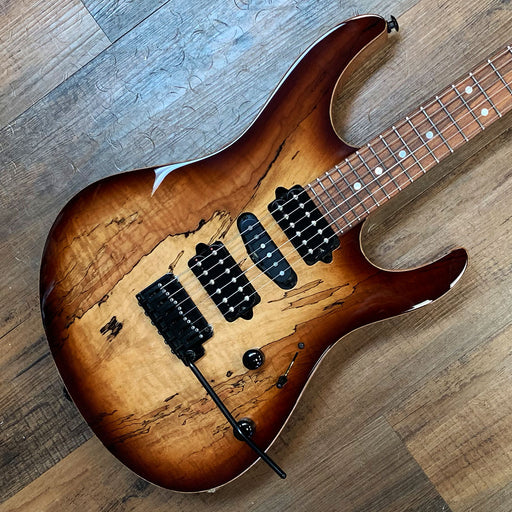 Suhr Custom Modern (HSH) Electric Guitar Spalted Maple Brown Burst