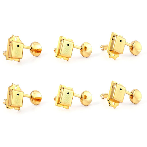 Gotoh Vintage Style Staggered Tuners 6-In-Line SD91 Gold TK-7880-002