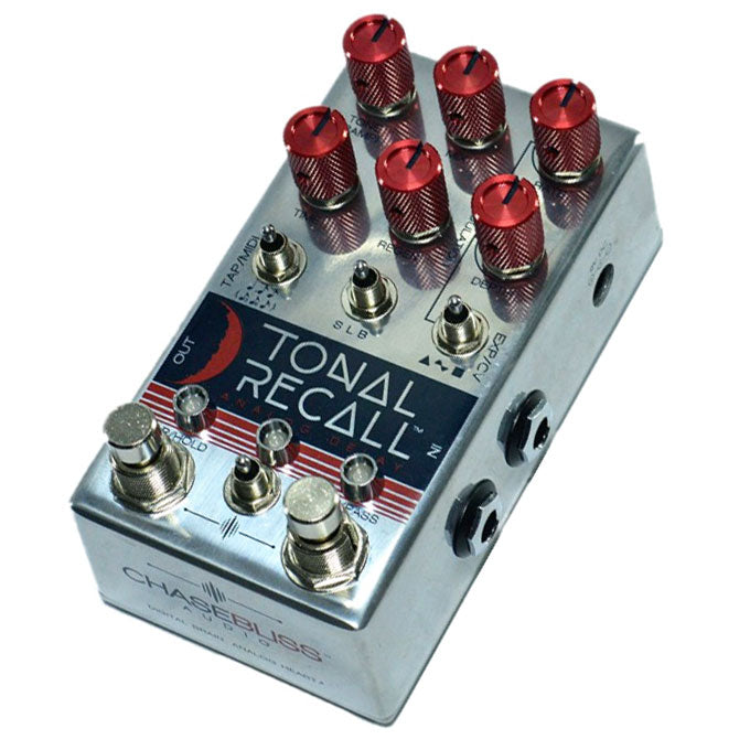 Chase Bliss Tonal Recall Analog Delay Red Knob Mod Wooden Box