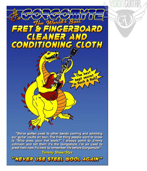 Gorgomyte Fret & Fingerboard Cleaner & Conditioning Cloth - Used By Pros