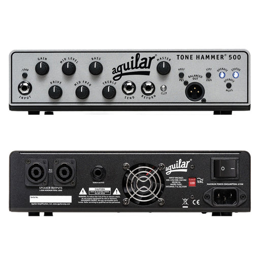 Aguilar Tone Hammer 500 Super Light Bass Amplifier Head 500 Watts