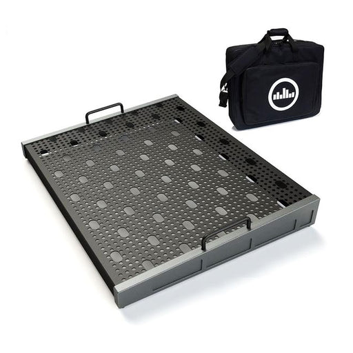 "Temple Audio Design Trio 21 (21"" x 16.5"") Pedalboard w/Soft Case Gun Metal"