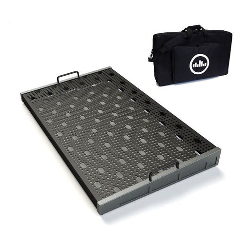 "Temple Audio Design Trio 28 (28.2"" x 16.5"") Pedalboard w/Soft Case Gun Metal"