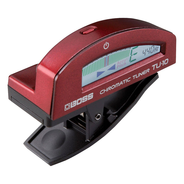 Boss TU-10 Clip-On Chromatic Tuner Red