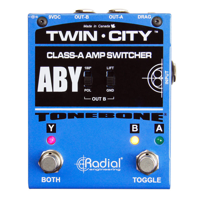 Radial Tonebone Twin-City Active ABY Amp Switcher