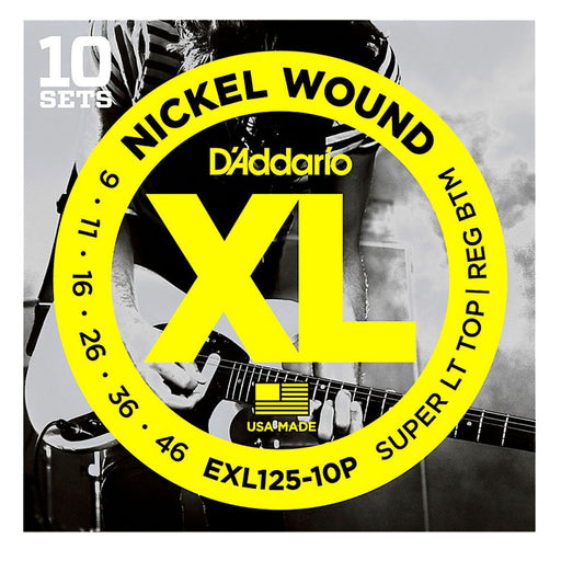 D'Addario EXL125-10P Nickel Wound Guitar Strings XL 9-46 (10-Pack)