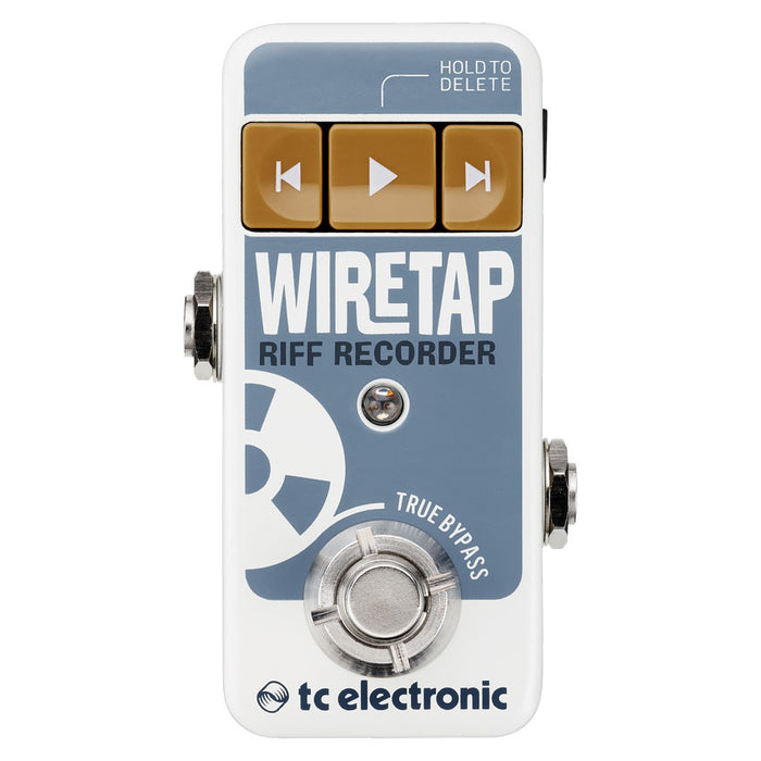 TC Electronic WireTap Riff Recorder Pedal Simple Riff Recorder