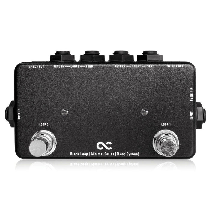 One Control Minimal Series Black Loop 2 Loop Switcher With Two DC Outs