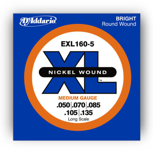 D'Addario Bass Strings EXL160-5 Long Scale .50 - .135
