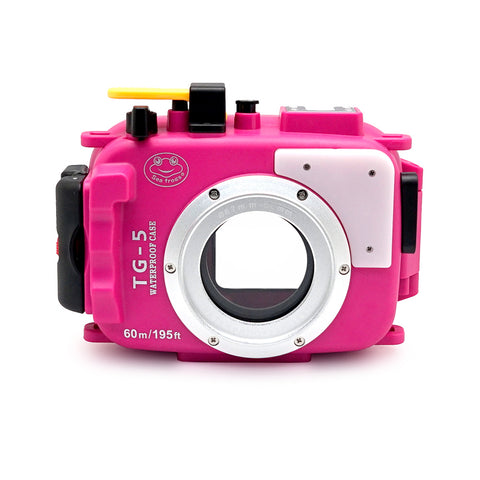 Olympus TG-5 / TG-6 60m/195ft SeaFrogs Underwater Camera Housing (Pink) - A6XXX SALTED LINE