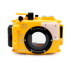 Olympus TG-3 / TG-4 60m/195ft SeaFrogs Underwater Camera Housing (Yellow)