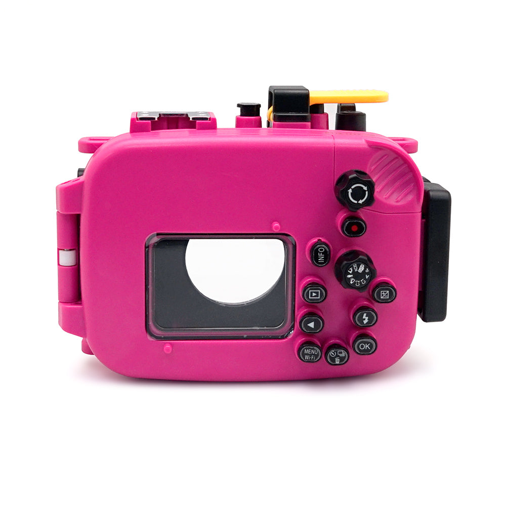 Olympus TG-5 60m/195ft SeaFrogs Underwater Camera Housing (Pink) - A6XXX SALTED LINE
