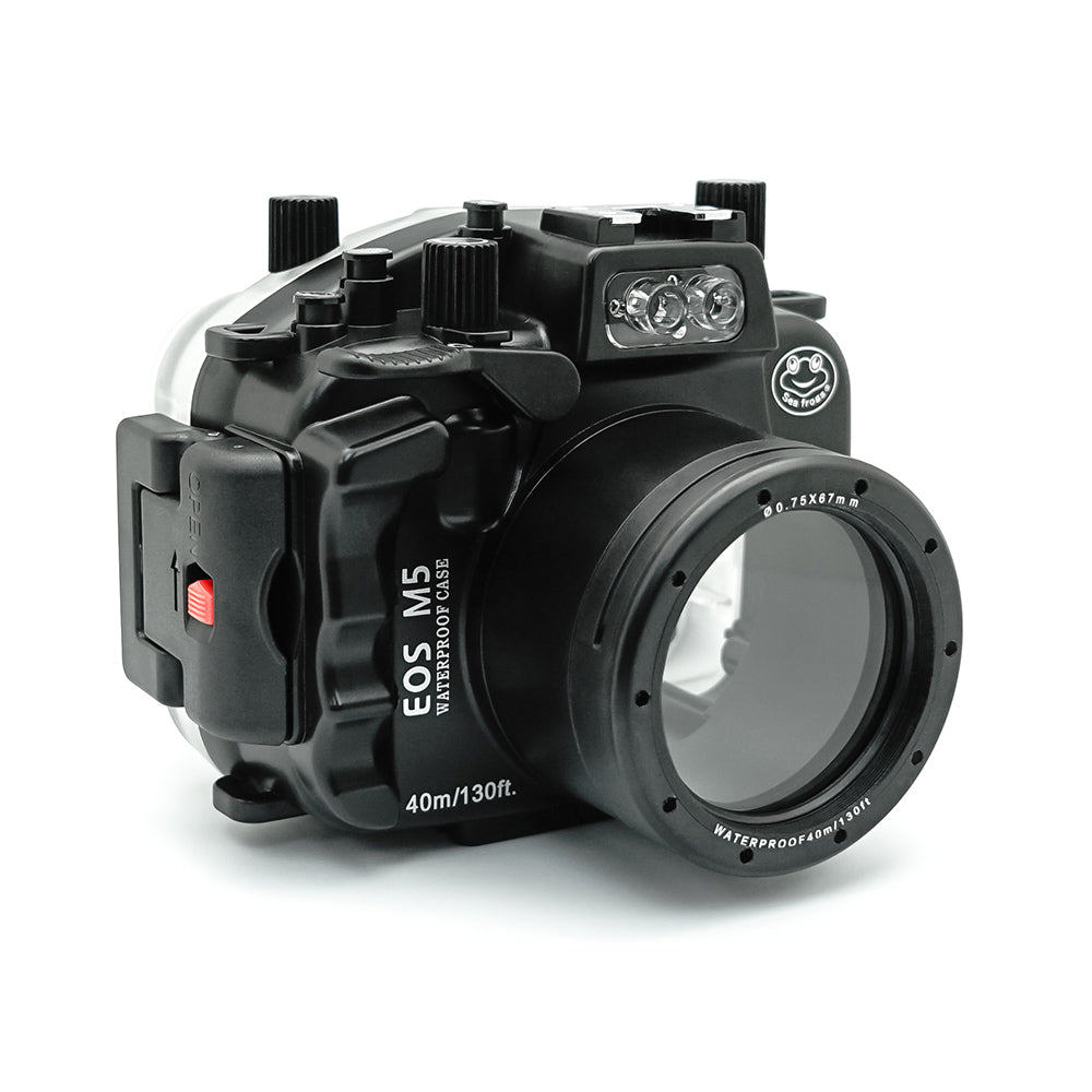 EOS M5 ( 18-55mm ) 40m/130ft SeaFrogs Underwater Camera Housing