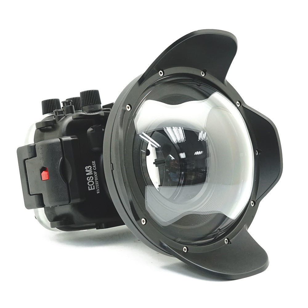 Canon EOS M3 40m/130ft Underwater Camera Housing with Dry dome port V.4