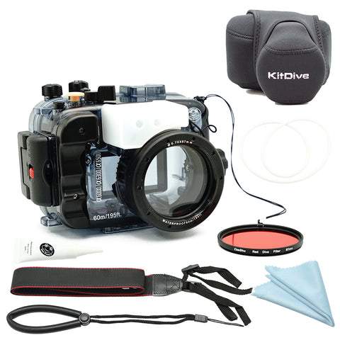 Sony A6500/A6300/A6000 60m/195ft SeaFrogs Underwater Camera Housing bundle