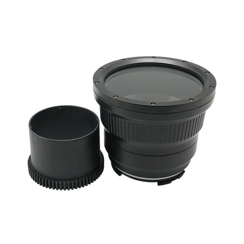 Flat long port for A6xxx series Salted Line (18-105mm & 18-135mm and Sigma 16mm lenses) UW housing - Zoom gear (18-105mm) included - A6XXX SALTED LINE