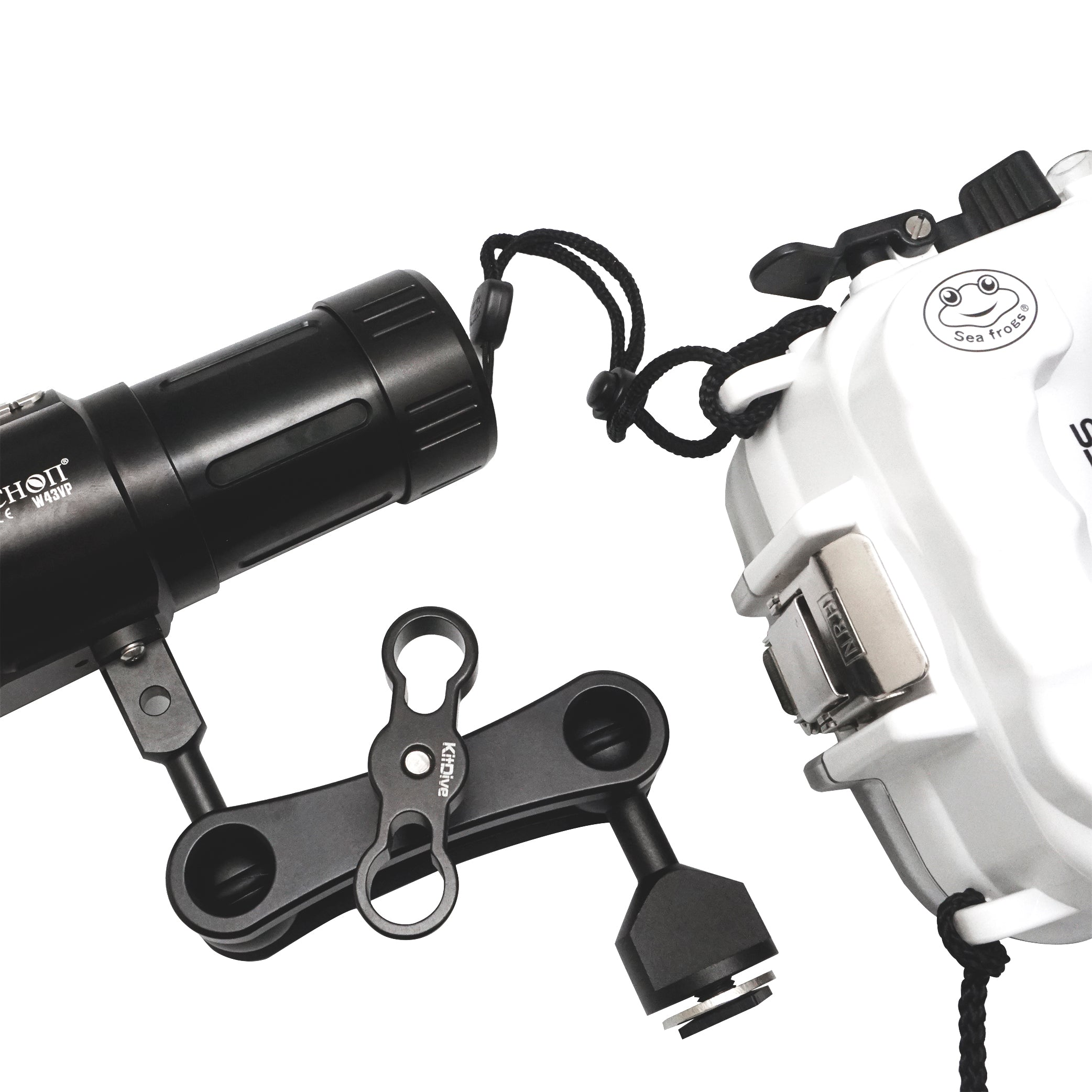 ARCHON W43VP 5200 Lumens LED Light & MS1 Underwater Video light / Strobe mounting system - A6XXX SALTED LINE