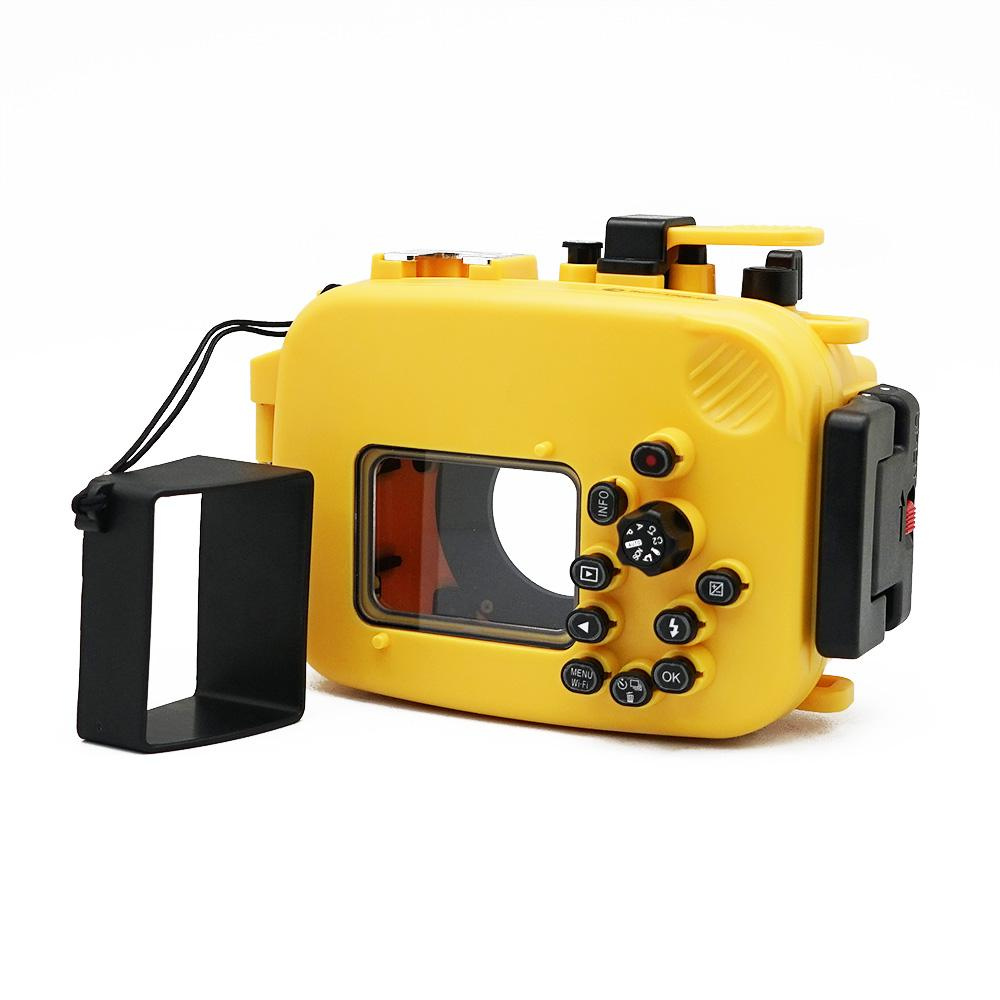 Olympus TG-3 / TG-4 60m/195ft SeaFrogs Underwater Camera Housing (Yellow) - A6XXX SALTED LINE