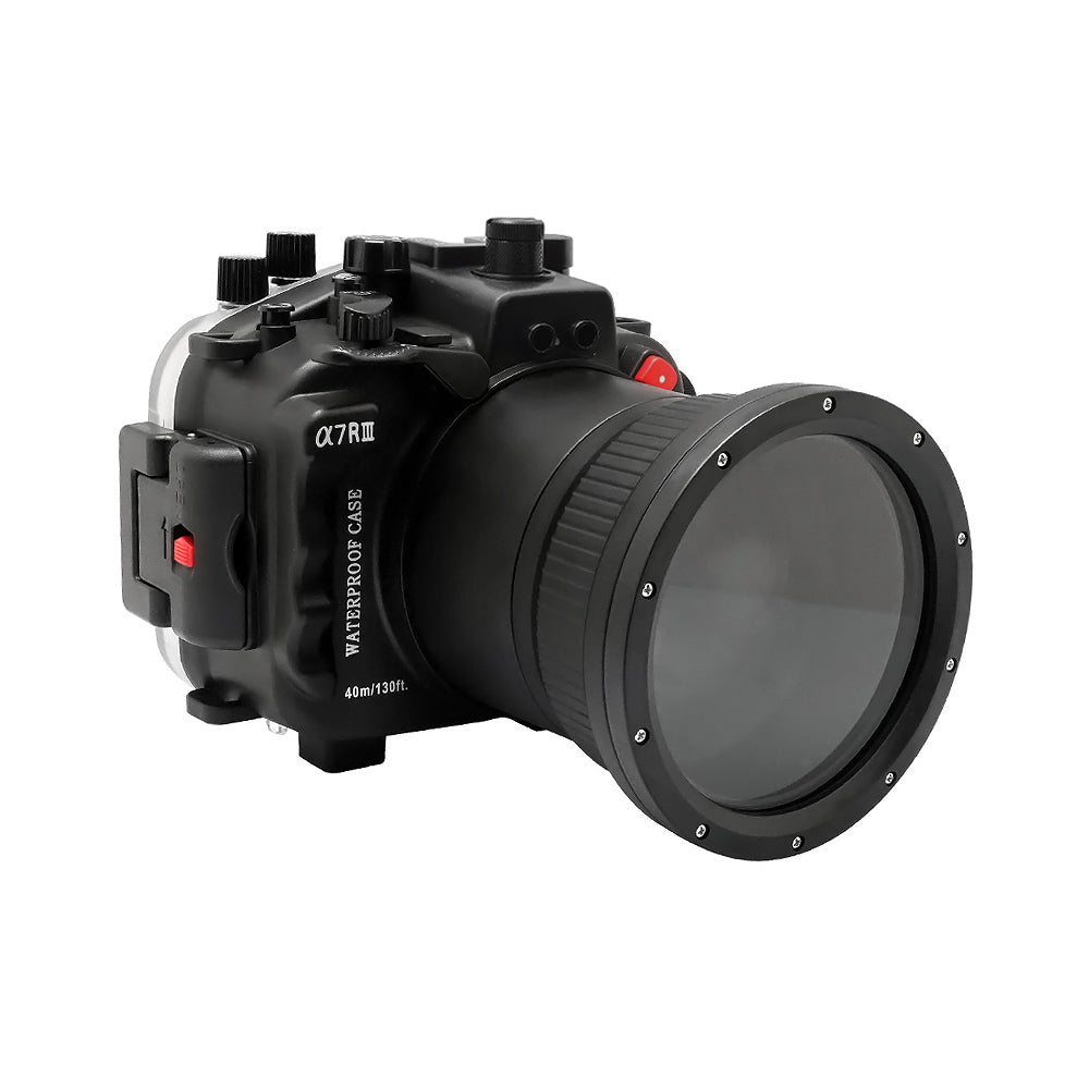 Sony A7 III V.2 Series 40M/130FT Underwater camera housing (Including Flat Long port) Focus gear for FE 90mm / Sigma 35mm included