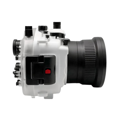 Sony A7 III V.2 Series 40M/130FT Underwater camera housing (Standard port) Zoom ring for FE16-35 F4 included. White