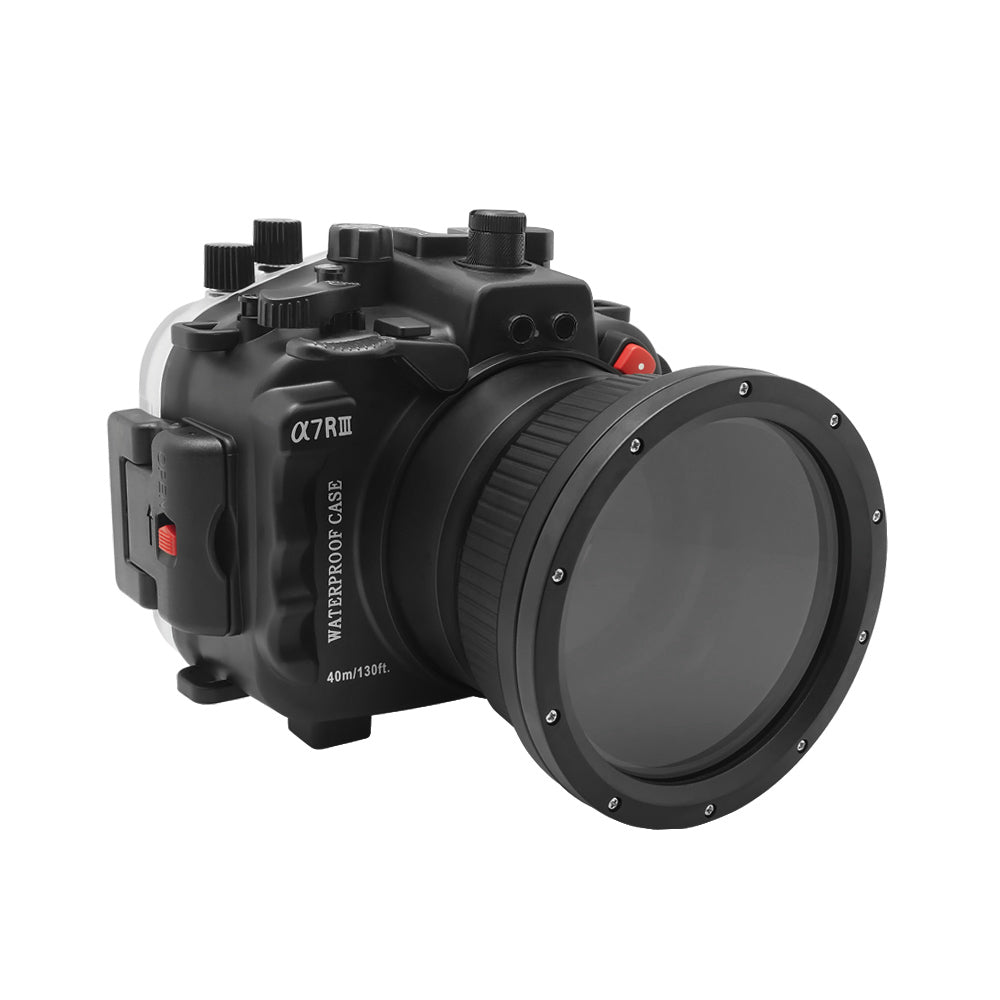 Sony A7 III V.2 Series 40M/130FT Underwater camera housing (Standard port) Zoom ring for FE16-35 F4 included