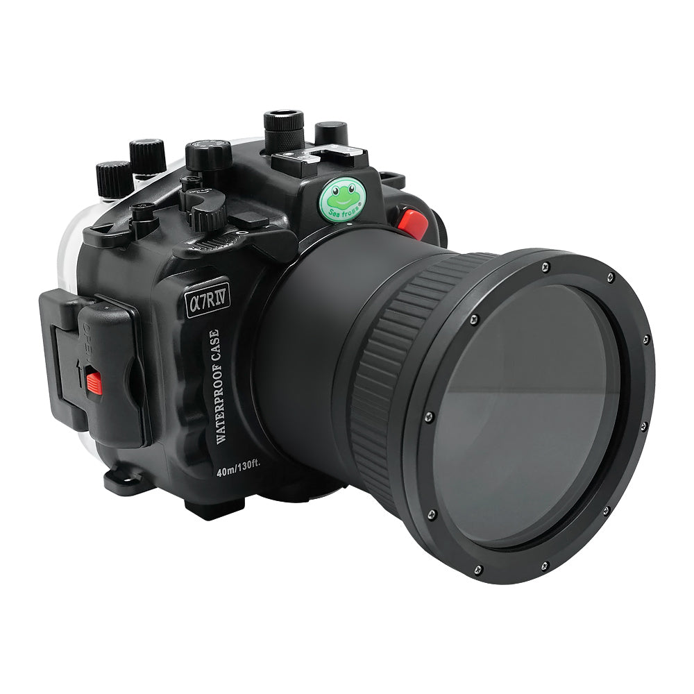 Sony A7R IV 40M/130FT Underwater camera housing (Including Flat Long port) Focus gear for FE 90mm / Sigma 35mm included