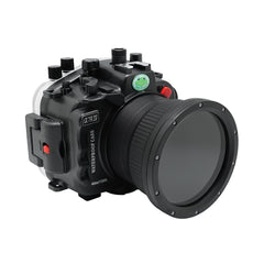 Sony A7R IV 40M/130FT Underwater camera housing with pistol grip (Standard port) Zoom ring for FE16-35 F4 included. Black - Surf