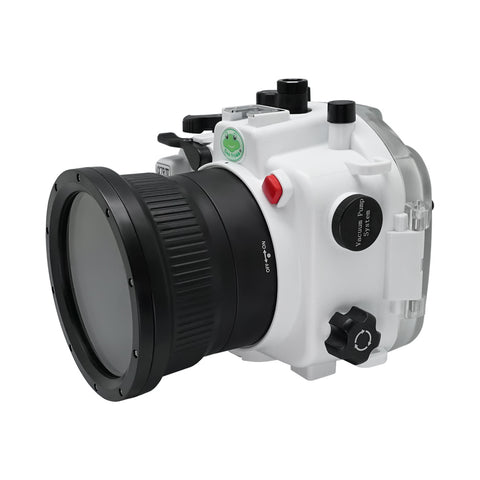 Sony A7R IV 40M/130FT Underwater camera housing (Standard port) Zoom ring for FE16-35 F4 included. White