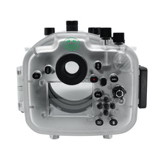 Sony A7R IV 40M/130FT Underwater camera housing (Including Flat Long port) Focus gear for FE 90mm / Sigma 35mm included. White