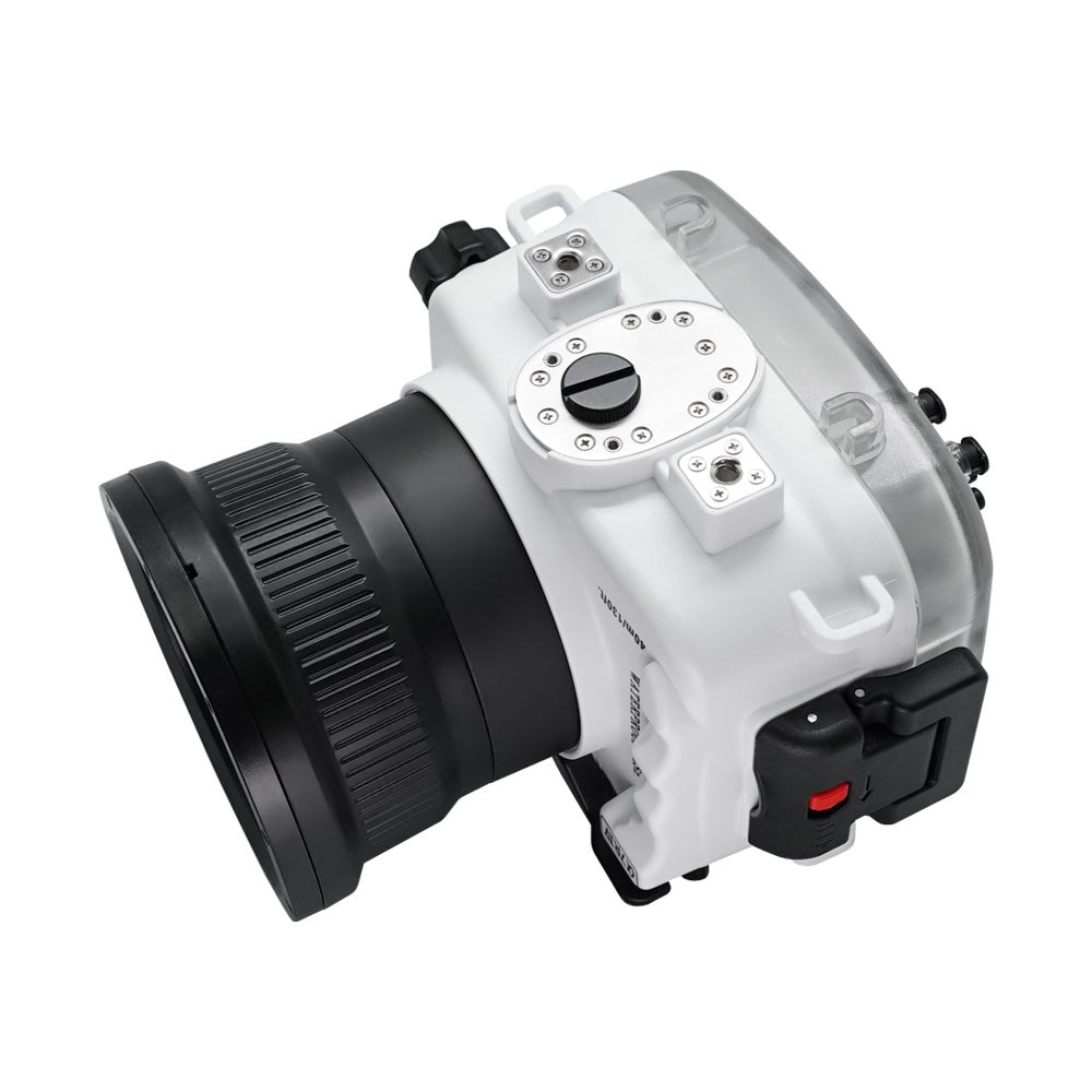 Sony A7R IV 40M/130FT Underwater camera housing with pistol grip (Standard port) Zoom ring for FE16-35 F4 included. White - Surf