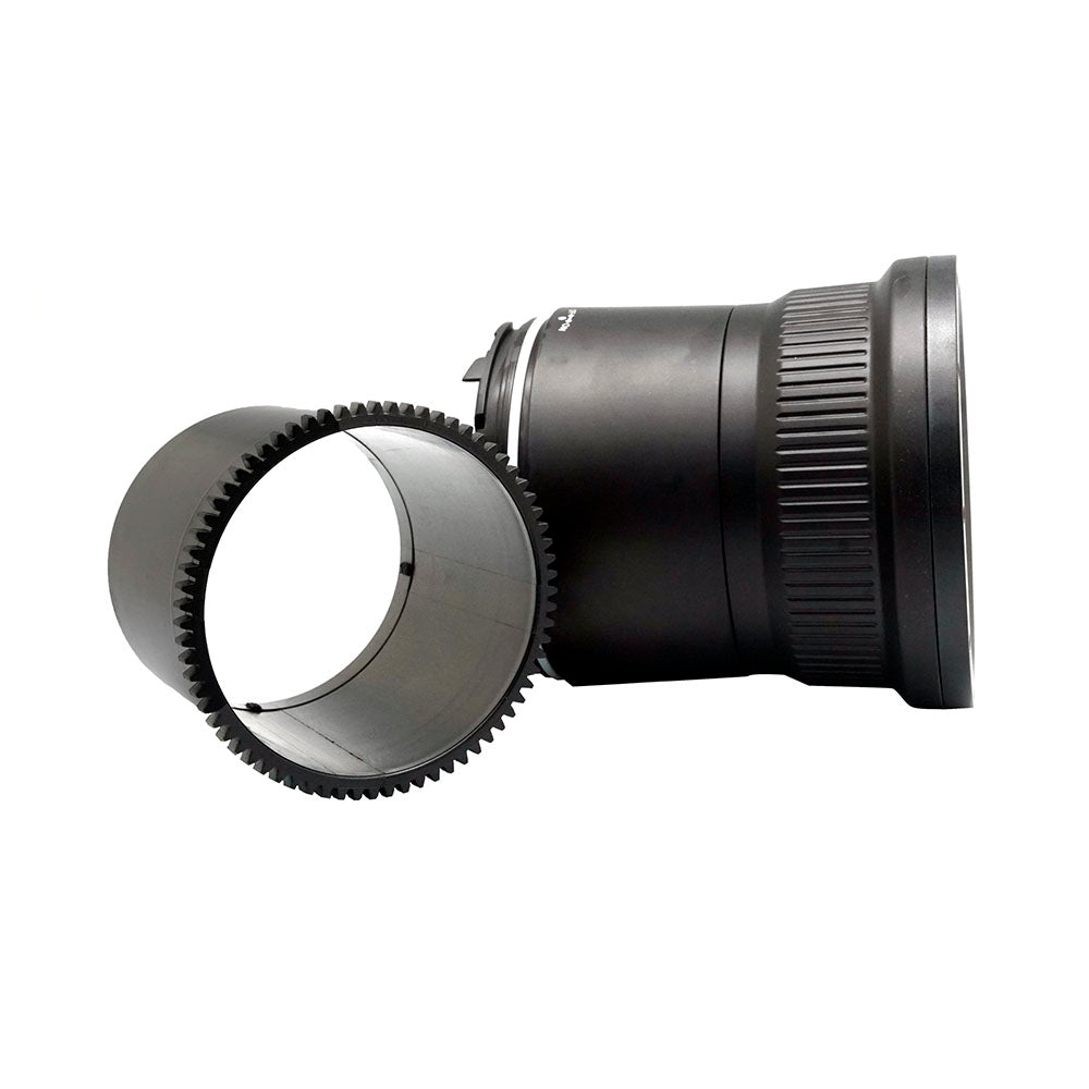 Flat Long port for Sigma 35mm Art and Sony FE 90mm Macro lens 40M/130FT (Focus gear included) - A6XXX SALTED LINE