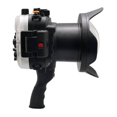 "Sony A7 NG Series 40M/130FT UW housing with 6"" Dome port & pistol grip (Standard port) Black - A6XXX SALTED LINE"