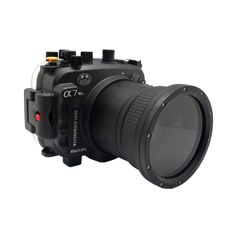 Sony A7 NG Series 40M/130FT Underwater camera housing (Long port) Black - A6XXX SALTED LINE