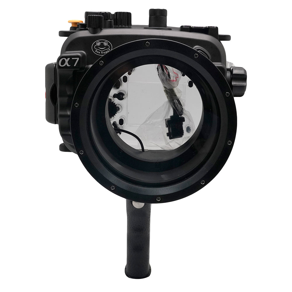 Sony A7 NG Series 40M/130FT Underwater camera housing with pistol grip (Long port) Black - A6XXX SALTED LINE