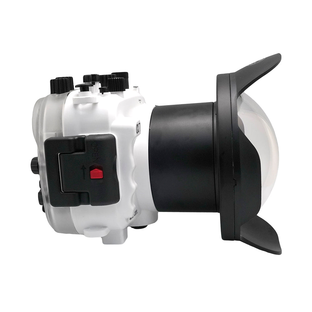 "Sony A7 NG Series UW camera housing with 6"" Dome port (Including Standard port) White - A6XXX SALTED LINE"