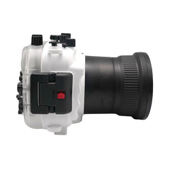 Sony A7 NG Series 40M/130FT Underwater camera housing (Long port) White - A6XXX SALTED LINE