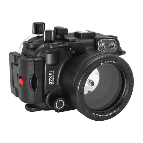 Canon G7X-III 40m/130ft SeaFrogs Underwater Camera Housing