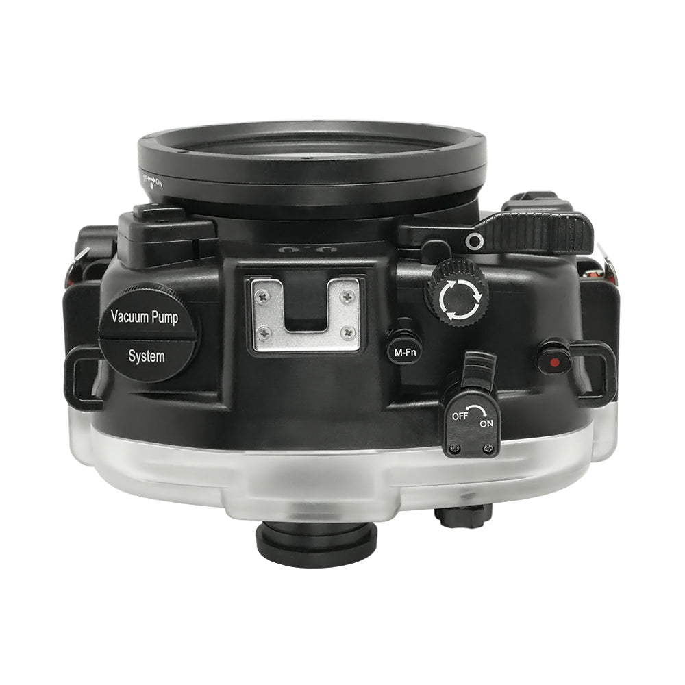 "Canon EOS M50 / EOS Kiss M (22mm) 40m/130ft SeaFrogs UW Housing with 6"" Dry Dome Port & Pistol Grip - A6XXX SALTED LINE"