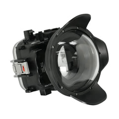 "Canon EOS M50 / EOS Kiss M (22mm) 40m/130ft SeaFrogs UW Camera Housing with 6"" Dry Dome Port - A6XXX SALTED LINE"