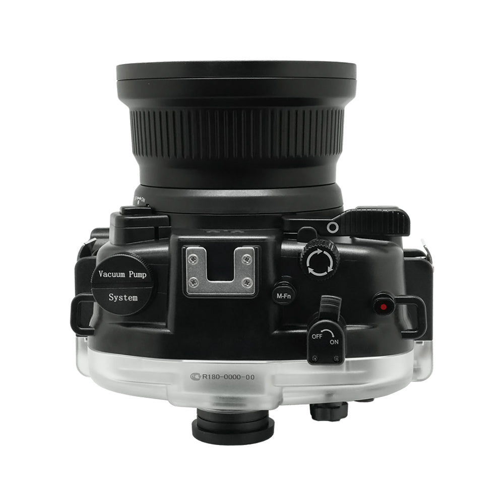 "Canon EOS M50 / EOS Kiss M 40m/130ft SeaFrogs UW Housing with 15-45mm/11-22mm flat port, 6"" Dry Dome Port & Pistol Grip"