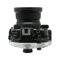 Canon EOS M50 / EOS Kiss M 40m/130ft SeaFrogs Underwater Camera Housing with 15-45mm/11-22mm flat port & Pistol Grip