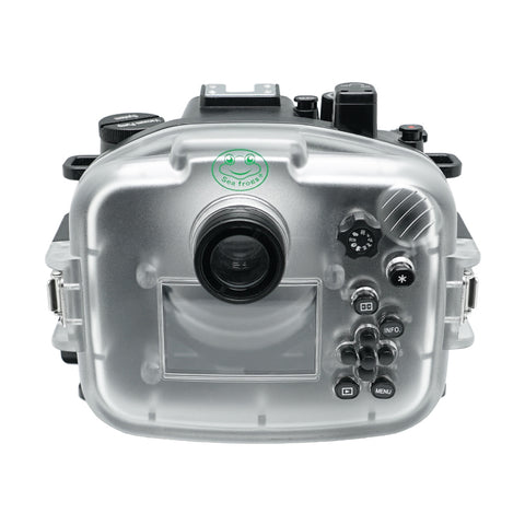 Canon EOS M50 / EOS Kiss M 40m/130ft SeaFrogs Underwater Camera Housing with 67mm threaded 55-200mm flat port