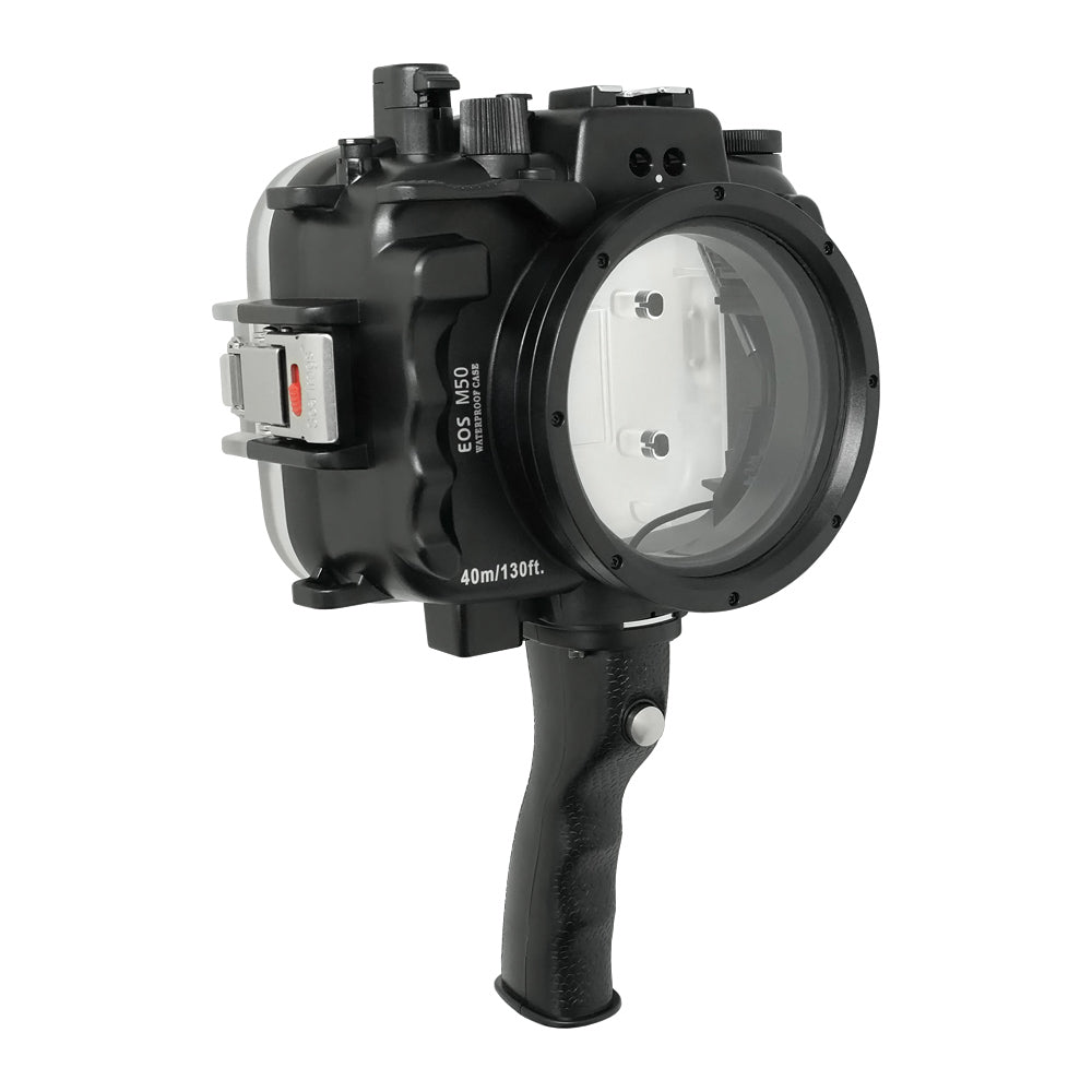 Canon EOS M50 / EOS Kiss M (22mm) 40m/130ft SeaFrogs UW Housing with Pistol Grip - A6XXX SALTED LINE